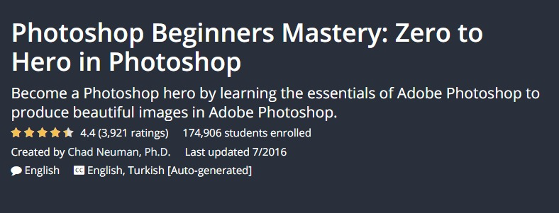 Photoshop online udemy course
